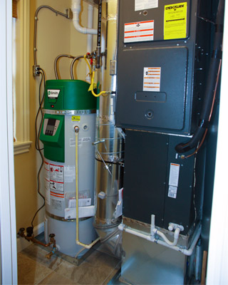 Water Heater in a home
