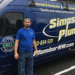 Jason, plumber at simpson plumbing
