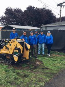 Simpson Plumbing team at a volunteer event