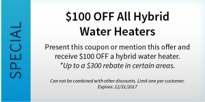 $100 OFF All Hybrid Water Heaters