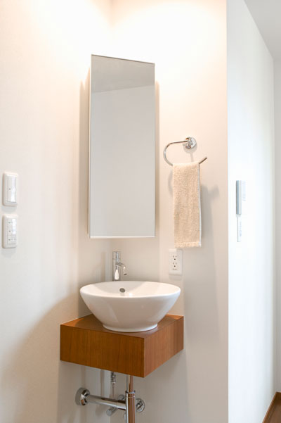 Learn ways to make a small bathroom seem bigger.
